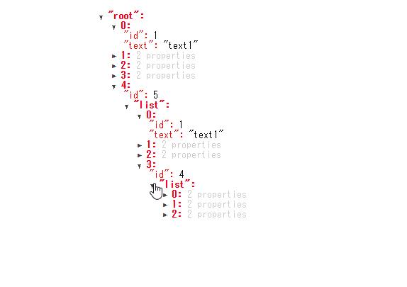 「Vue JSON Tree View」でTree形式でJSONを表示する