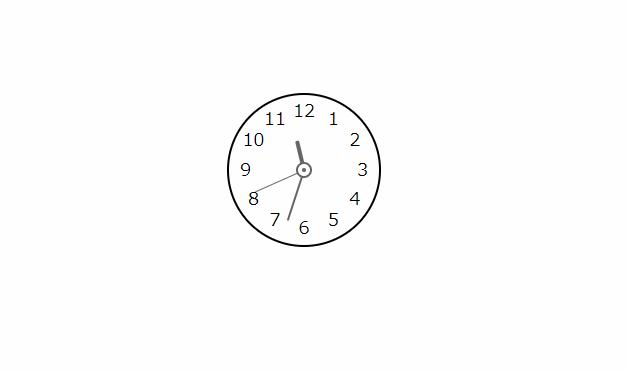 円形時計コンポーネントを「vue-clock」で実装する 4